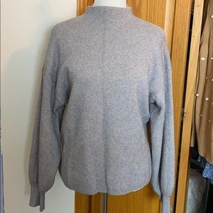 Sweaters - Super Thick Mock Neck Balloon Sleeve Sweater